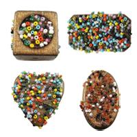 Wood Glass Seed Beads