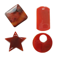 Red Agate Pendants