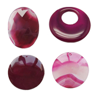Rose Agate Pendants