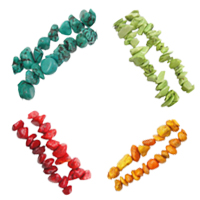 Natural Chip Turquoise Beads