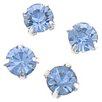 Claw Sew On Stone, Brass, with Crystal, Flat Round, faceted, more colors for choice, 6x6x6mm, 1.5mm, Hole:Approx 2mm, Sold By PC