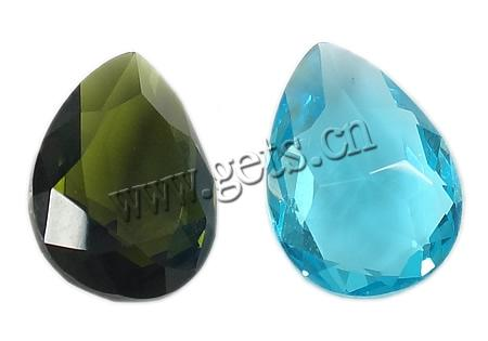 Crystal Cabochons, Teardrop, rivoli back & faceted, more colors for choice, 14x10x6mm, Sold By PC