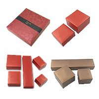 Leatherette Paper Jewelry Set Box