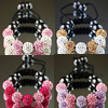 Rhinestone Shamballa Bracelets, with Nylon Cord & Hematite, handmade, more colors for choice, Length:Approx 7-10 Inch, Sold By Strand