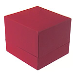 Plastic Ring Box, PC Plastic, Rectangle, with velveteen covered, red, 60x65x55mm, Sold By PC