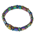 Hematite Bracelet, rainbow, different styles for choice, 13x7mm, Length:7 Inch, Sold By Strand