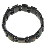 Hematite Bracelet, Rectangle, different styles for choice, 17x10mm, Length:7 Inch, Sold By Strand