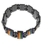 Hematite Bracelet, Rectangle, different size for choice, 17x10mm, Length:7 Inch, Sold By Strand
