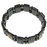Hematite Bracelet, different styles for choice, 18x10mm, Sold Per 7 Inch Strand