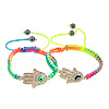 Hamsa Bracelets, Zinc Alloy, Hand, plated, enamel & with rhinestone, more colors for choice, Length:Approx 7-12 Inch, Sold By Strand