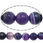 Natural Lace Agate Beads, Round, more sizes for choice & faceted, purple, Hole:Approx 1-1.5mm, Length:Approx 15 Inch, Sold By Strand