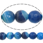 Natural Lace Agate Beads, Round, Customized & more sizes for choice & faceted, blue, Hole:Approx 1-1.5mm, Sold Per Approx 15 Inch Strand