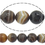 Natural Lace Agate Beads, Round, more sizes for choice & faceted, coffee color, Hole:Approx 1-1.5mm, Length:Approx 15 Inch, Sold By Strand