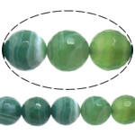 Natural Lace Agate Beads, Round, Customized & more sizes for choice & faceted, green, Hole:Approx 1-1.5mm, Sold Per Approx 15 Inch Strand