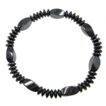 Hematite Bracelet, different styles for choice, A Grade, 8x12mm,6mm, Sold Per 7.5 Inch Strand