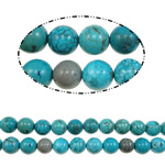 Natural Sinkiang Turquoise Beads, Round, blue, Length:16 Inch, Sold By KG