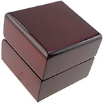 Plastic Ring Box, PC Plastic, Rectangle, dark red, 61x61x54mm, Sold By PC