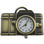 Hanging Watch, Zinc Alloy, Camera, antique bronze color plated, cadmium free, 42x29x9mm, Sold By PC