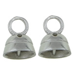Sterling Silver End Caps, 925 Sterling Silver, Bell, plated, more colors for choice, 7x8.8mm, Hole:Approx 3mm, Sold By PC