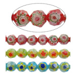 Glass Chevron Beads, Round, faceted, more colors for choice, 8mm, Hole:Approx 1.5mm, Length:Approx 14 Inch, Approx 50PCs/Strand, Sold By Strand