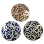 Cloisonne Brooch, Flat Round, more colors for choice, 40x5mm, Sold By PC