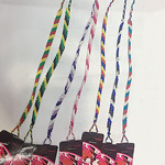 Friendship Bracelets, Nylon Cord, woven, mixed colors, 6mm, Sold Per 11 Inch Strand