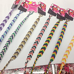 Friendship Bracelets, Nylon Cord, woven, mixed colors, 10mm, Sold Per 10-11 Inch Strand