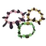 Freshwater Pearl Bracelet, with Elastic Thread, 9-10mm, Length:Approx 7.5 Inch, 12Strands/Bag, Sold By Bag