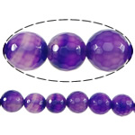 Natural Lace Agate Beads, Round, more sizes for choice & faceted, purple, Hole:Approx 2mm, Length:Approx 15 Inch, Sold By Strand