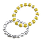 Non magnetic Hematite Bracelet, with Elastic Thread & Brass, plated, more colors for choice, lead & nickel free, 10mm, 8x4mm, Sold Per Approx 7 Inch Strand
