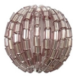 Woven Glass Seed Beads, with Acrylic, Round, handmade, more colors for choice, Hole:Approx 3mm, Sold By PC