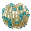 Woven Glass Seed Beads, with Acrylic, Round, handmade, Hole:Approx 3mm, Sold By PC