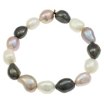 Cultured Freshwater Pearl Bracelets, natural, 11-14mm, Length:Approx 7 Inch, Sold By Strand