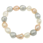 Cultured Freshwater Pearl Bracelets, 11-14mm, Length:Approx 7 Inch, Sold By Strand