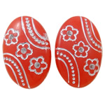 Acrylic Shank Button, Oval, silver accent, more colors for choice, 12x18x6mm, Hole:Approx 1.5mm, Approx 817PCs/Bag, Sold By Bag