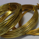 Aluminum Wire, electrophoresis, more sizes for choice, golden, Length:5 m, Sold By PC