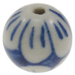 Blue and White Porcelain Beads, Round, hand drawing, more sizes for choice, Hole:Approx 2mm, Sold By PC