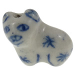 Animal Porcelain Beads, Pig, hand drawing, two tone, Hole:Approx 1.5mm, Sold By PC