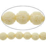 Carved Natural Coral Beads, Synthetic Coral, Round, more colors for choice, 8.5mm, Hole:Approx 2.5mm, Sold By PC