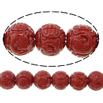 Carved Natural Coral Beads, Synthetic Coral, Round, more colors for choice, 9mm, Hole:Approx 1.5mm, Sold By PC