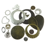 Mixed Iron Findings, plated, more colors for choice, 13-44mm, Sold By KG