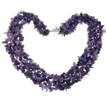Gemstone Necklaces, Amethyst, Chips, 4-12mm, Sold Per 18 Inch Strand