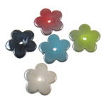 Clearance Acrylic Beads , Flower, plumbum black color plated, solid color, mixed colors, 25x3.5mm, Hole:Approx 3mm, Approx 710PCs/KG, Sold By KG