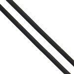 Rubber Cord, black, 1.2mm, Approx 84m/G, Sold By G