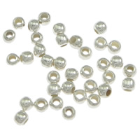 Sterling Silver Crimp Beads, 925 Sterling Silver, Drum, plated, more colors for choice, 2x1.6mm, Hole:Approx 0.8mm, Sold By PC