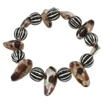 Freshwater Pearl Bracelet, with Acrylic, 27x11x8mm, Length:Approx 7.5 Inch, Sold By Strand