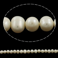 Round Cultured Freshwater Pearl Beads, natural, more colors for choice, Grade A, Hole:Approx 0.8mm, Length:14.5 Inch, Sold By Strand