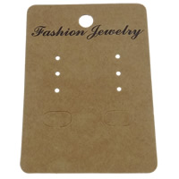 Earring Display Card, Paper, Rectangle, Customized, 67x50mm, 2000PCs/Bag, Sold By Bag
