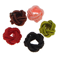 Nylon Coated Rubber Rope Clasp, mixed colors, 4x6mm, Hole:Approx 3mm, Sold By PC