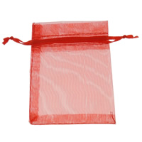 Organza Drawstring Pouches, different size for choice & Customized & translucent, more colors for choice, Sold By PC